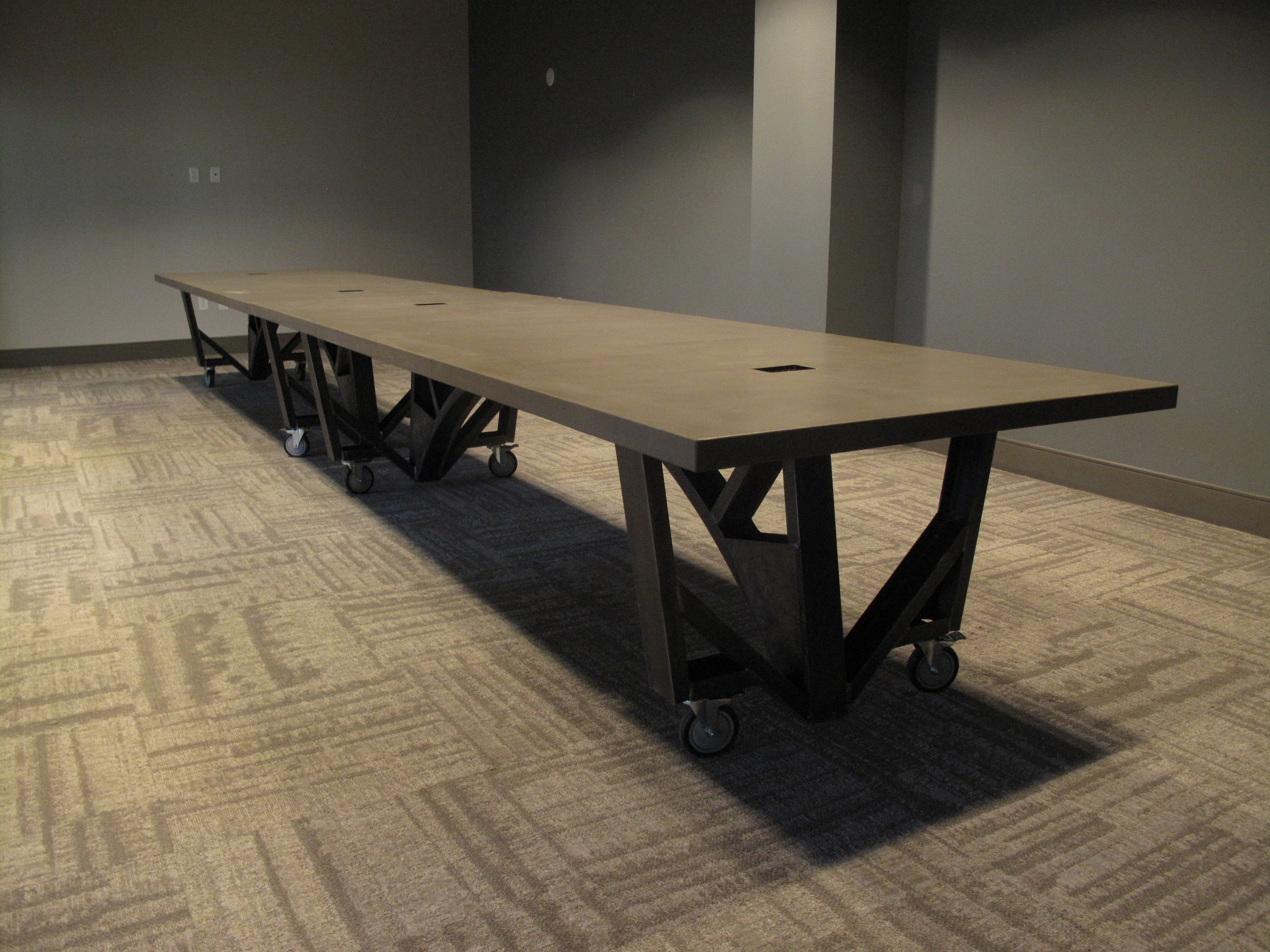 black and tables product conference fulcrum table eclipse glass circular meeting in